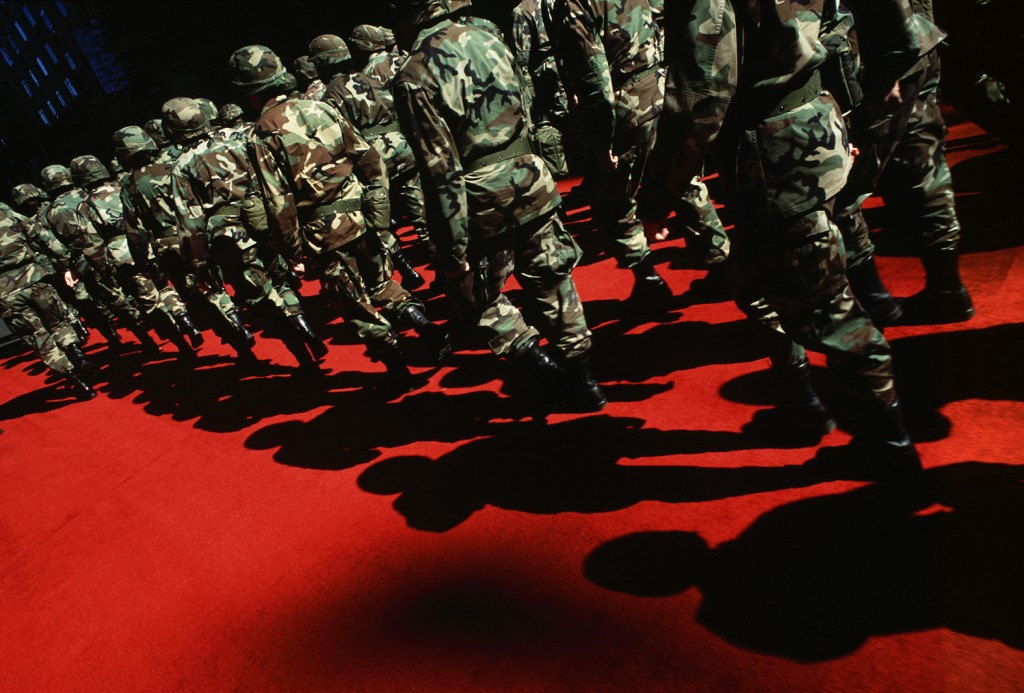 Soldiers on Red Carpet, 2001 from the Homeland series